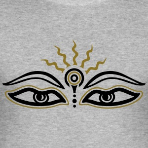 Buddha, third eye, symbol wisdom & enlightenment Tröjor - Slim Fit T-shirt herr