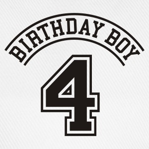 Light blue Birthday boy 4 years Kids' Shirts - Baseball Cap