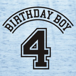 Light blue Birthday boy 4 years Kids' Shirts - Women's Tank Top by Bella