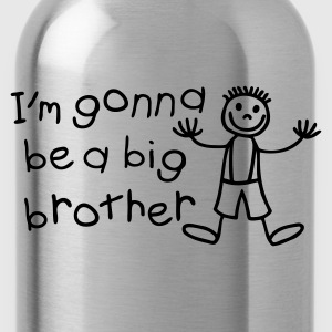 Light blue I'm gonna be a big brother Kids' Shirts - Water Bottle