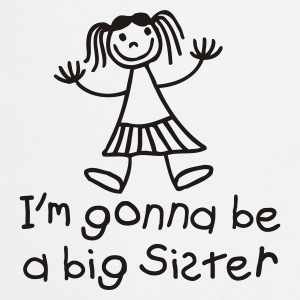 White I'm gonna be a big sister Kids' Shirts - Cooking Apron