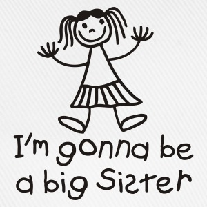 White I'm gonna be a big sister Kids' Shirts - Baseball Cap
