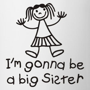 White I'm gonna be a big sister Kids' Shirts - Mug