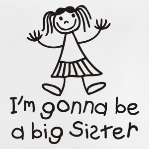 White I'm gonna be a big sister Kids' Shirts - Baby T-Shirt