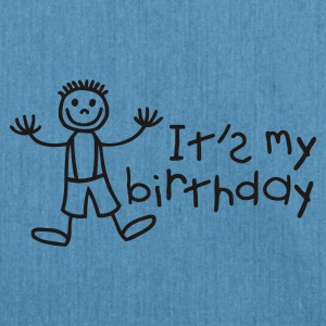 Light blue It's my birthday - Boy Kids' Shirts - Shoulder Bag made from recycled material