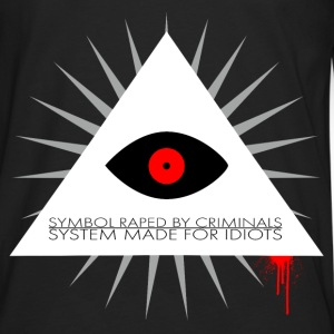 Symbol raped by criminals, system made for idiots  T-shirts - Herre premium T-shirt med lange ærmer