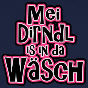 Mei Dirnl is in da Wäsch T-Shirts - Baseballkappe