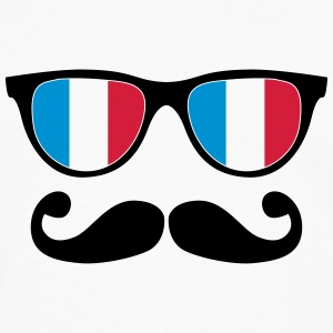 french mustache glasses nerd - like a sir Tee shirts - T-shirt manches longues Premium Homme