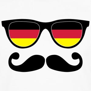 german mustache glasses nerd - like a sir Tee shirts - T-shirt manches longues Premium Homme