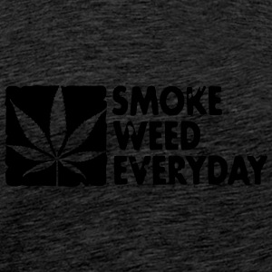 smoke weed everyday boxed Pullover & Hoodies - Männer Premium T-Shirt