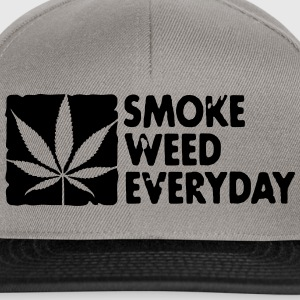 smoke weed everyday boxed Sweat-shirts - Casquette snapback
