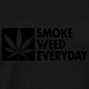 smoke weed everyday boxed Tröjor - Premium-T-shirt herr