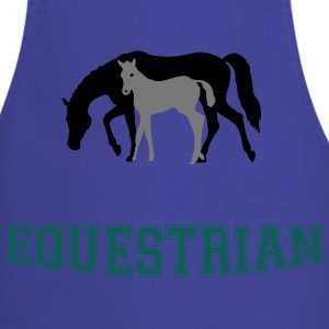 Mare and Foal Equestrian T-Shirt - Cooking Apron