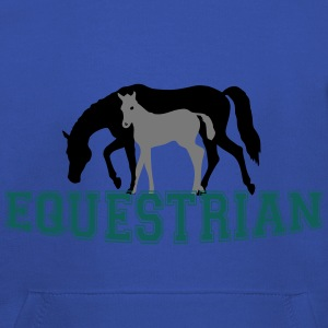 Mare and Foal Equestrian T-Shirt - Kids' Premium Hoodie