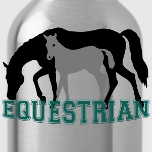 Mare and Foal Equestrian T-Shirt - Water Bottle
