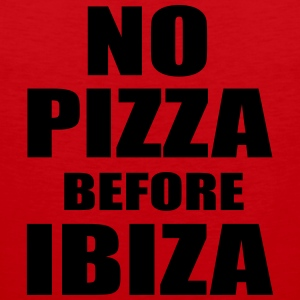 No Pizza Before Ibiza T-shirts - Premiumtanktopp herr