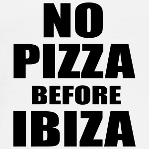 No Pizza Before Ibiza Flessen & bekers - Mannen Premium T-shirt