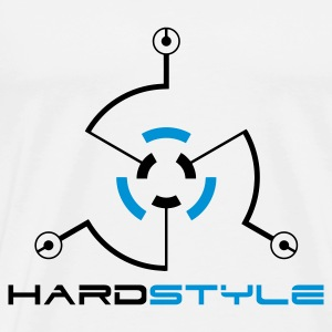 White Hardstyle Tech 2 Jumpers  - Men's Premium T-Shirt