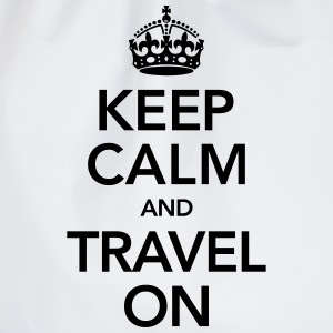 Keep Calm And Travel On T-shirts - Gymnastikpåse