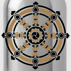 Dharma Wheel, Dharmachakra Wheel of Fortune T-Shirts - Water Bottle