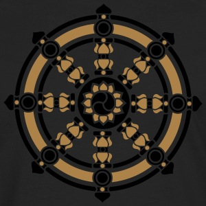 Dharma Wheel, Dharmachakra Wheel of Fortune T-Shirts - Men's Premium Longsleeve Shirt