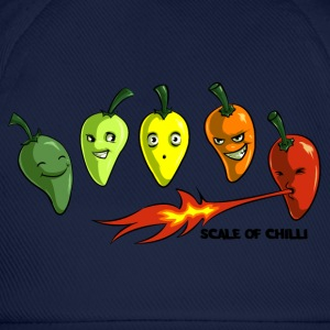 Scale of Chilli Full colour T-Shirts - Baseball Cap