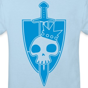 Vektor-Skulls: Kings Blade and Shield Tröjor - Ekologisk T-shirt barn