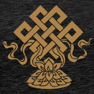 Eternal Knot, Endless, Lotus, Tibetan Buddhism, Hoodies & Sweatshirts - Men's Premium T-Shirt