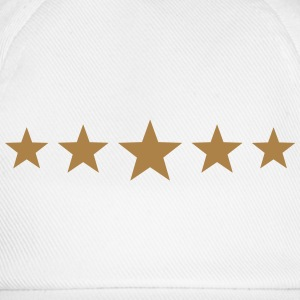 Five Stars, winner, hero, best, 5, golden, award Camisetas - Gorra béisbol