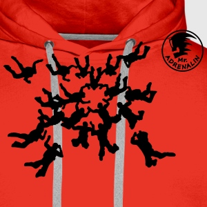 Skydiving Tee shirts - Sweat-shirt à capuche Premium pour hommes