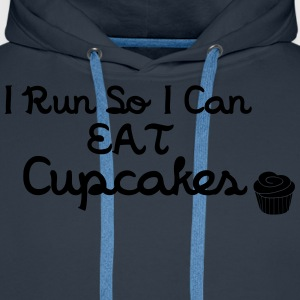 I Run So I Can Eat Cupcakes T-Shirts - Men's Premium Hoodie