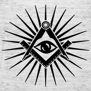 Masonic symbol, all seeing eye, freemason Sweatshirts - Dame tanktop fra Bella