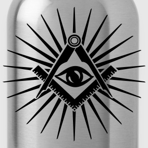 Masonic symbol, all seeing eye, freemason Gensere - Drikkeflaske