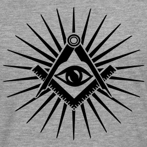 Masonic symbol, all seeing eye, freemason Sweatshirts - Herre premium T-shirt med lange ærmer