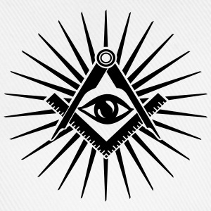 Masonic symbol, all seeing eye, freemason Magliette - Cappello con visiera