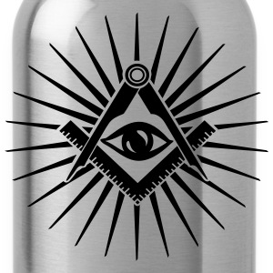 Masonic symbol, all seeing eye, freemason Camisetas - Cantimplora
