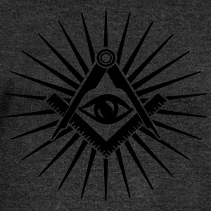 All seeing Eye, Pyramid, Horus, Triangle, Symbols, - Women's Boat Neck Long Sleeve Top