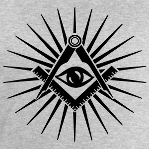 Masonic symbol, all seeing eye, freemason Tee shirts - Sweat-shirt Homme Stanley & Stella