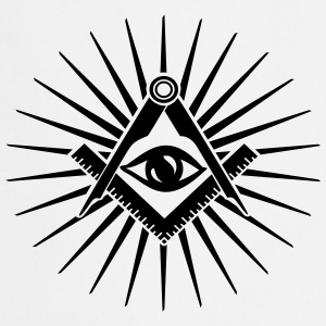 Masonic symbol, all seeing eye, freemason Koszulki - Fartuch kuchenny