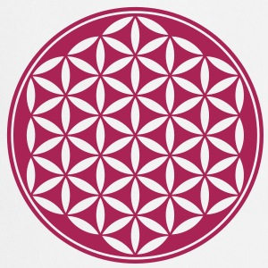 Vector - Flower of Life - 02, 1c, sacred geometry, - Cooking Apron