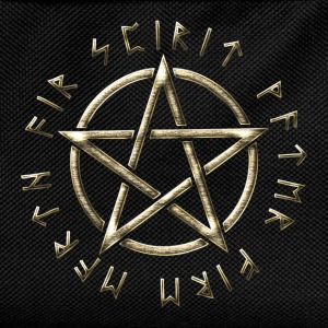 Runes pentagram, pentacle, protection, paganism Tee shirts - Sac à dos Enfant