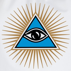 all seeing eye - eye of god - 1-3 colors - symbol of Omniscience & Supreme Being T-shirts - Sportstaske