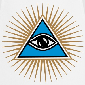 all seeing eye - eye of god - 1-3 colors - symbol of Omniscience & Supreme Being T-shirts - Forklæde