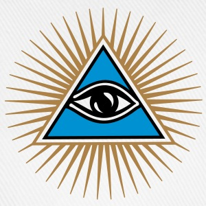 all seeing eye - eye of god - 1-3 colors - symbol of Omniscience & Supreme Being T-shirts - Baseballcap