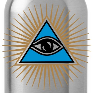 all seeing eye - eye of god - 1-3 colors - symbol of Omniscience & Supreme Being Tee shirts - Gourde