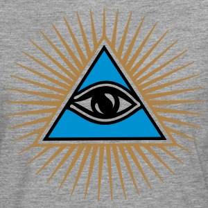 all seeing eye - eye of god - 1-3 colors - symbol of Omniscience & Supreme Being Tee shirts - T-shirt manches longues Premium Homme