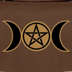 Pentacle /Pentagram - Wicca triple moon / Amulet T-shirt - Tracolla