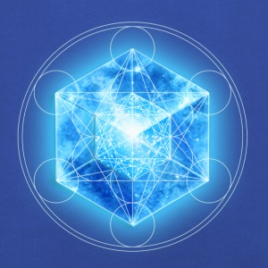Metatrons Cube with TESSERACT, Hypercube 4D, digital, Symbol - Dimensional Shift,  Tee shirts - Pull à capuche Premium Enfant