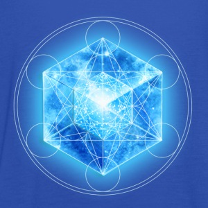 Metatrons Cube with TESSERACT, Hypercube 4D, digital, Symbol - Dimensional Shift,  T-shirts - Dame tanktop fra Bella