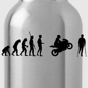 Evolution motorcycle accident  T-Shirts - Water Bottle